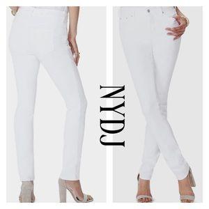 NYDJ Jeans White Marilyn Straight Leg